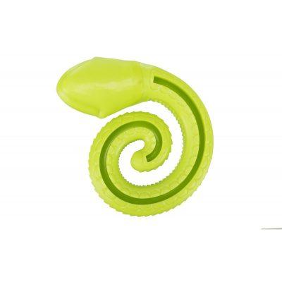 Slang groen hond snack speelgoed