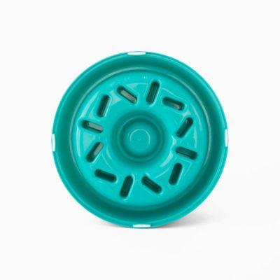 Happy bowl voerbak hond blauw groen donut