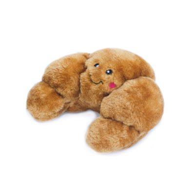Croissant speeltje knuffel hond